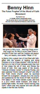 Problems of Benny Hinn